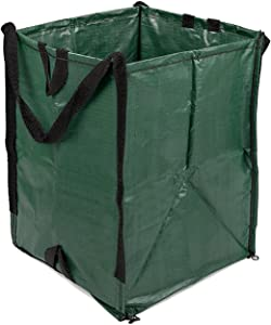 DuraSack Heavy Duty Home & Yard Bag (Green) - 48 Gallon Woven Polypropylene Bag   Reusable Lawn and Leaf Garden Bag with Reinforced Carry Handles   Pop up Garbage Can with Self Standing Support Frame