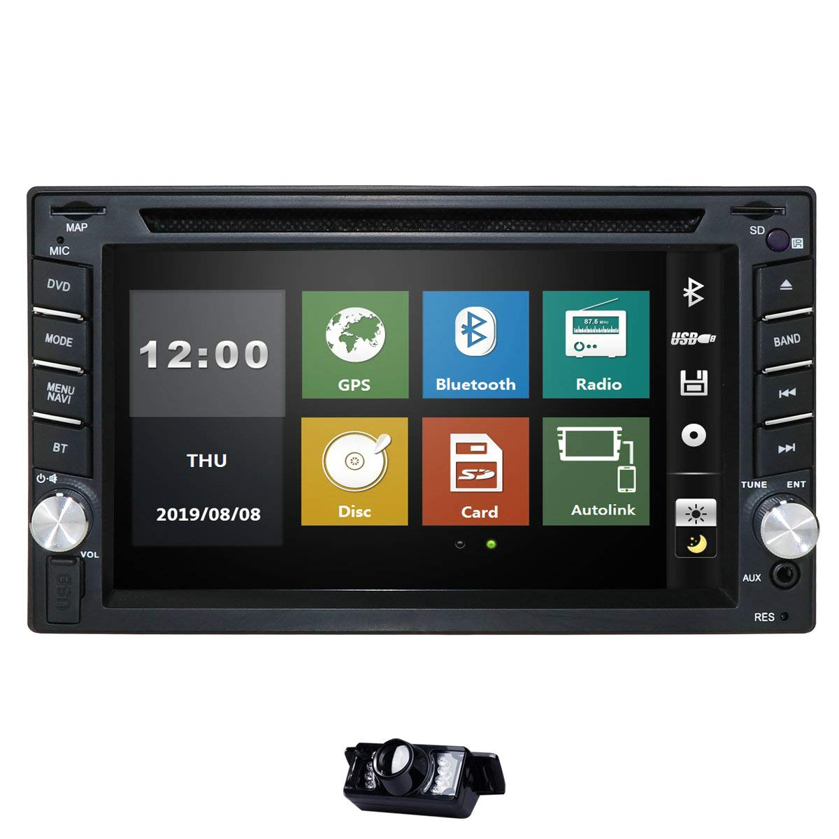 Navigation Supports Steering Bluetooth Mirror Link