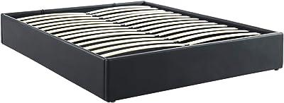 160 x 200 cm PEGANE Lit Coffre Adulte Coloris Noir