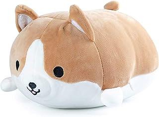 Refasy Plush Pillow for Kids,Corgi Gifts Corgi Dog Plush Pillow Stuffed Animal Toys for Boys Girls Soft Plush Toys Doll To...