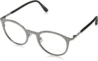 Tom Ford Brille FT5465 014 47 Monturas de gafas, Plateado (Gunmetal), 47.0 Unisex Adulto