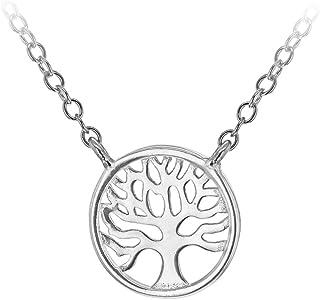 Tuscany Silver 女式纯银镀铑 11 mm 生命树可调节项链长 39 cm/15.5 英寸-42 cm/16.5