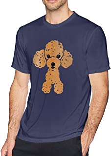 Tシャツ メンズ かわいいトイプードル 3DプリントTシャツ デザイン ファション カジュアル 夏半袖Tシャツ 脇汗対策 ストレッチ 通販