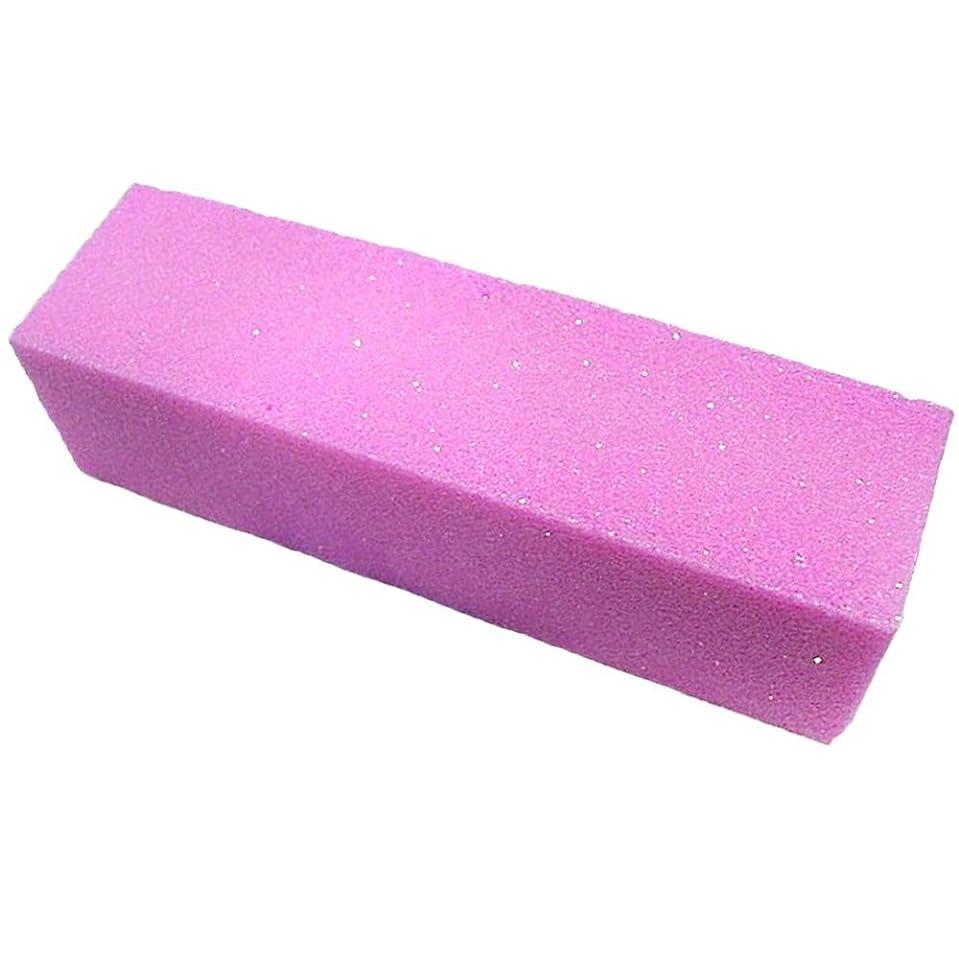 軍メンバー間欠SODIAL 10xピンク色のバッファバフサンディングブロックファイル マニキュアペディキュア ネイルアートの為