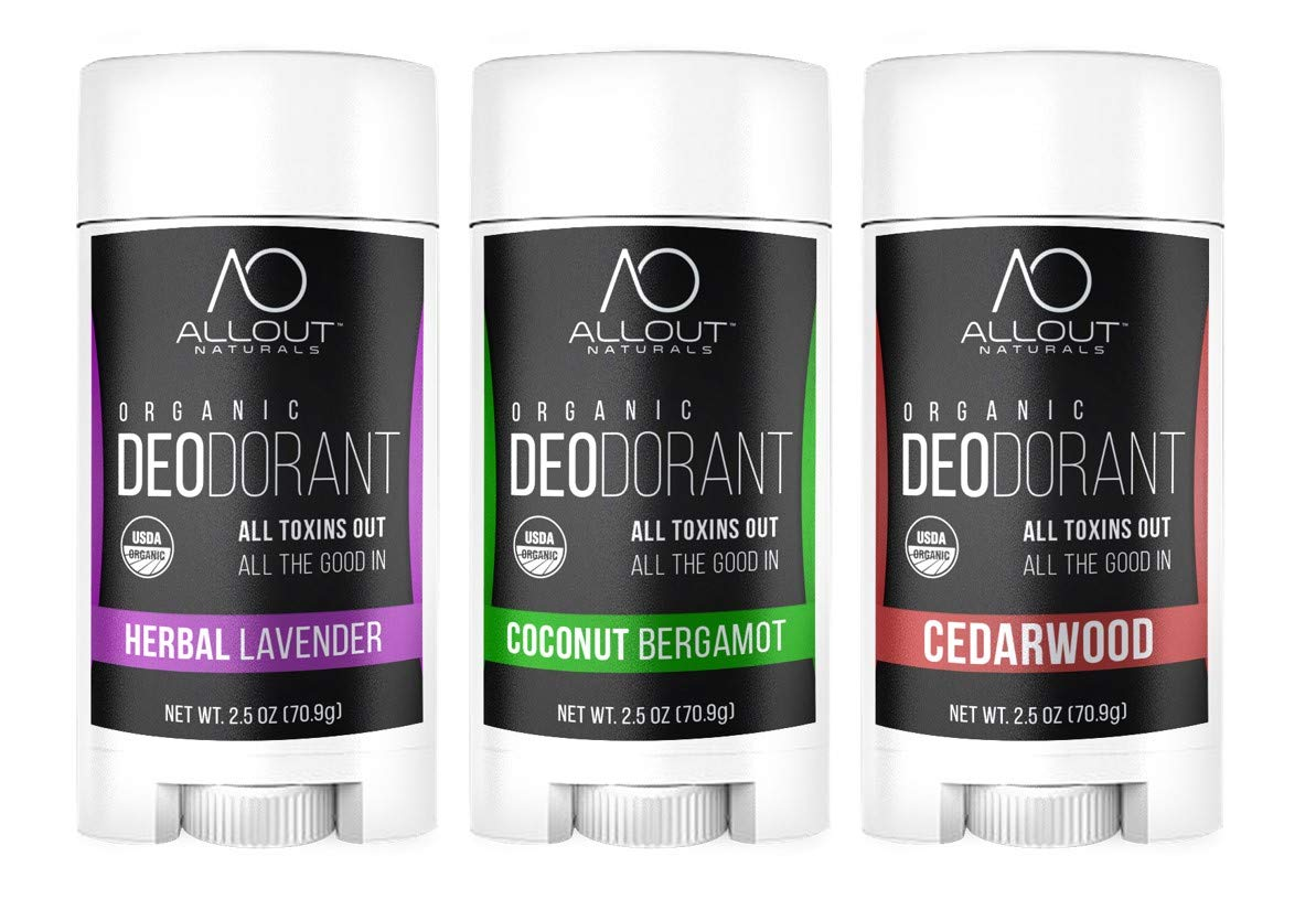 All Out Tampa Mall Naturals Organic Deodorant Deodor Miami Mall 3-pack Best Natural
