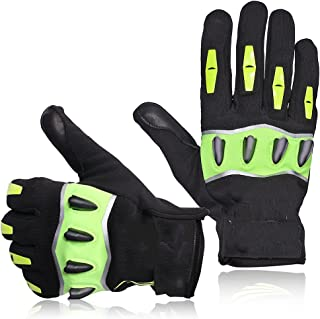 Gloves, Cycling Gloves with Full Finger, with High Visibility, High Sensitivity and Easy Touch Screen, Easy to Operate, Su...