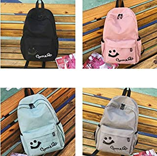 Leng QL Personality Backpacks Fashion Smile Pattern Leisure Rucksack Outdoor Traveling Computer Backpack