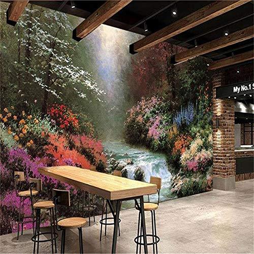 Sucsaistat 3D Photo Papier Peint Murale Salon Canapé TV Fond Mur Thomas Paysage Peinture À l'huile Image Papier Peint pour Les Murs 3D, 400 * 280 Cm