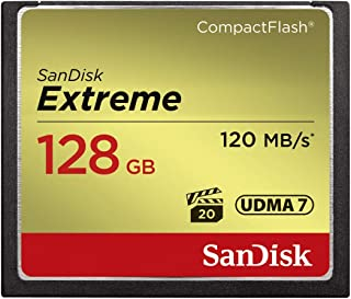 SanDisk Extreme 128GB CompactFlash Memory Card (SDCFXSB-128G-G46) Black