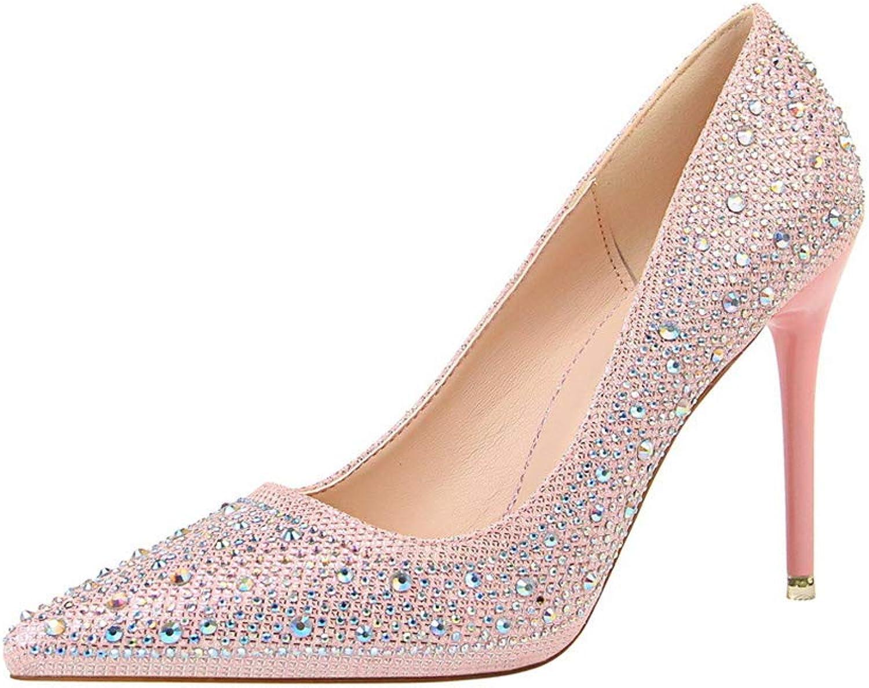 Fashion Sexy Slim Rhinestone Diamond high Heel shoes