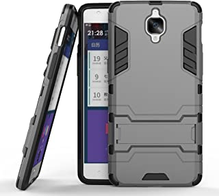 MaiJin 対応 OnePlus 3 / OnePlus 3T (5.5ンチ) 保護カバー 2イン1 デュアル ハイブリッド ブラケット機能 耐衝撃ケース (グレー)