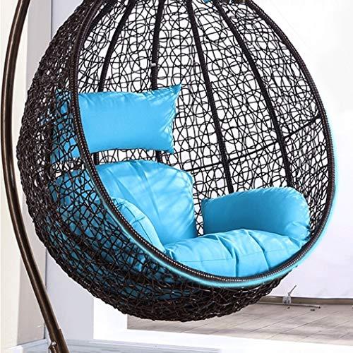 HLDBW Nest Coussin for Chaise Suspendue Tapis Simple Panier Universel Chaise en rotin Coussin épais Coussin pivotant en Coton, Amovible et Lavable (Color : B)