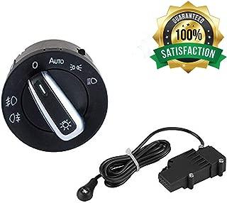 Ketofa Generic Auto Headlight Sensor   Chrome Switch for VW Golf 5 / Golf MK6 / Tiguan / Jetta MK5