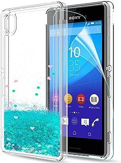 a6fe2aa4867 LeYi Funda Sony Xperia M4 Aqua Silicona Purpurina Carcasa con HD  Protectores de Pantalla,Transparente