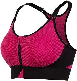 7dacc3796d Sports Femme Soutien-Gorge Bretelles étroites Pousser Zip-Avant vers Le  Haut Jogging Yoga