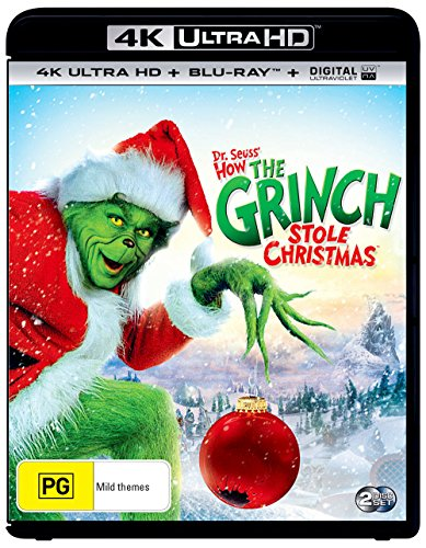 How The Grinch Stole Christmas 4K UHD Blu-ray / Blu-ray | NON-USA Format | Region B Import - Australia