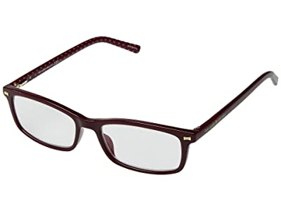 Kate Spade New York Jodie Blue Light Reading Glasses (Burgundy) Reading Glasses Sunglasses