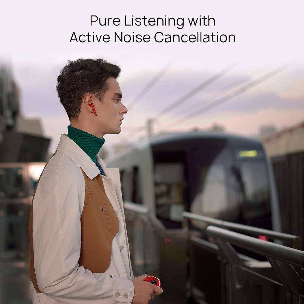 Auriculares inal/ámbricos Bluetooth con cancelaci/ón Inteligente de Ruido Carga inal/ámbrica r/ápida Peque/ño Sistema de 3 micr/ófonos HUAWEI FreeBuds Pro Blanco