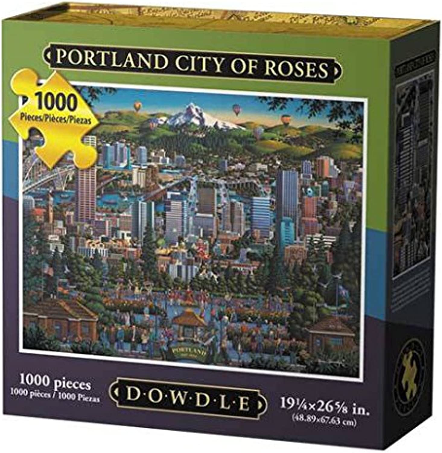 Jigsaw Puzzle - Portland  City of pinks  1000 Pc By Dowdle Folk Art