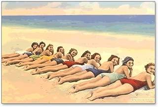 bathing beauty postcard