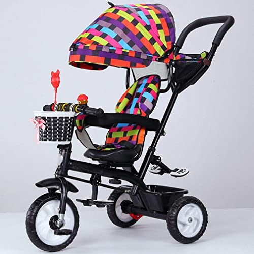 Daxiong Kinder-Dreirad Baby Fahrrad Kinderwagen rotierenden Sitz 1-3-5 Kinder Fahrrad