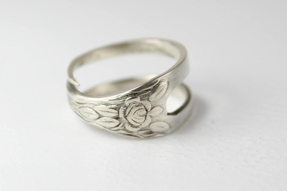 Ring 800 Silber Besteckschmuck Ring, ca. 58 (18,4) Ring aus Silberbesteck