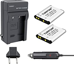 TURPOW 2 Pack EN-EL19 Battery + Charger Compatible with Nikon Coolpix S32 S33 S100 S2800 S3100 S3200 S3300 S3500 S3600 S3700 S4100 S4200 S4300 S5200 S5300 S6500 S6600 S6800 S6900 S7000 Camera
