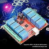 Oumefar USB-Controller-Schalter Relaismodul Relais-Controller-Schalter PC Smart Controller-Modul 12V...