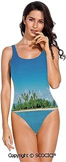 SCOCICI Swimsuit Bikini Lion Portrait King of The Forest Wild Creature Power Wa