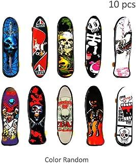 HanYoer 10 pcs Professional Mini Fingerboards Finger Skateboard, Kids Toy Gift Party Favors, Random Pattern