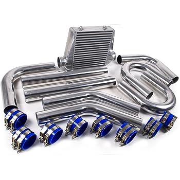 Intercooler Incasso Set tubo di alluminio tubo 63/mm 32teile