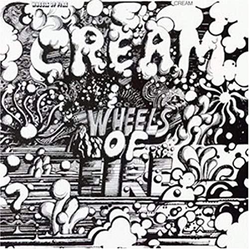 Cream Wheels of Fire Rock Populaire Album de Musique Affiche Toile Peinture Art Affiche Imprimer Maison Mur Salon décoration -50x75 Pouces No Frame