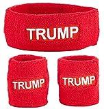 Funny Guy Mugs Trump Unisex Sweatband Set (3-Pack: 1 Headband & 2 Wristbands)