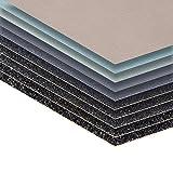 30 Blatt Schleifpapier Sortiment 210 x 110 mm P5000 P3000 P2000 P1000 P800 Nass und Trocken Sandpapier