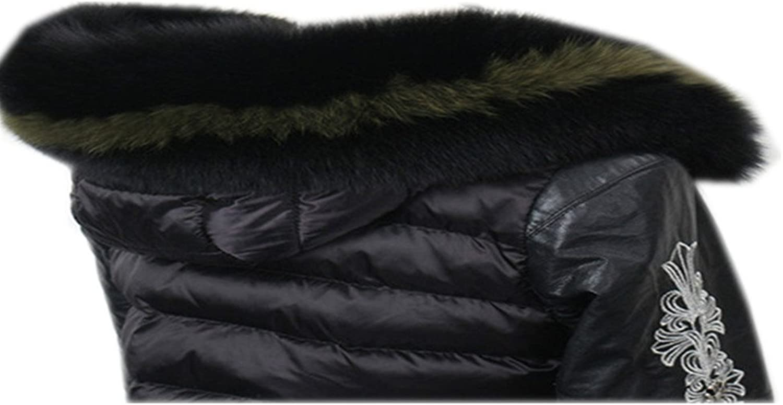 Gegefur Winter Women's Scarf Real Fox Fur Collar Warmer Scarf