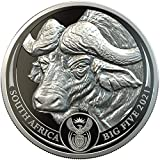 Buffalo Bufalo Big Five 1 Oz Moneda Platino 20 Rand South Africa 2021