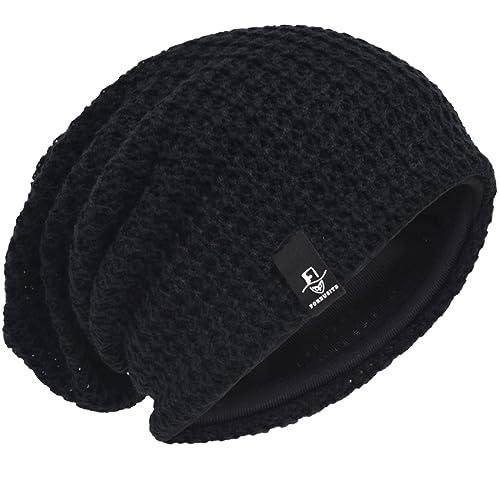 Men Oversize Beanie Slouch Skull Knit Large Baggy Cap Ski Hat B08 8711ba6eb01