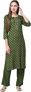 Pistaa's Women's Viscose Printed Readymade Salwar Suit Set