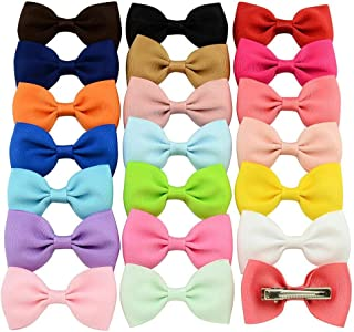 Gijoki 20 Pcs/Set Kids Fashion Casual Cute Headwear Duckbill Clip Bow Hair Clip Clips