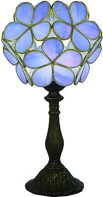 Lampada Abat Jour In Ottone Brunito Con Vetro Tiffany Fiori Di Loto Bianco Amazon It Illuminazione