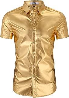 Summer Men's Casual Button Down Hawaiian Shirts Holiday Party Hawaiian Ugly Christmas Shirt
