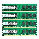 motoeagle DDR2 PC2 5300 667MHz Udimm RAM 8GB Kit (2GBX4) PC2 5300U 1.8V módulos de memoria de escritorio sin búfer