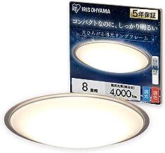 アイリスオーヤマ LEDシーリングライト 調光 調色タイプ ~8畳 メタルサーキットシリーズ クリアフレーム CL8DL-5.1CF