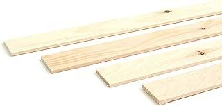 Wodewa - Listón de madera para pared (1 m, 30 x 4 mm), dise