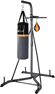 GOPLUS Punching Bag w/Stand 2 in 1 Hanger Wall Bracket Hanging Boxing Frame with Heavy Bag & Speed Bag