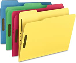 colored folders with fasteners