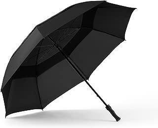ShedRain Windjammer Vented Golf Umbrella with Rubber Grip: Black