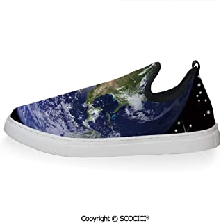 SCOCICI Summer Shoes for Men,North America Stars and The,Soft and Breathable