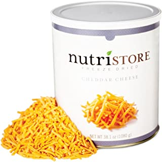 Nutristore Freeze Dried Cheddar Cheese Shredded | Premium Quality | Amazing Taste | Perfect for Camping | Survival Food