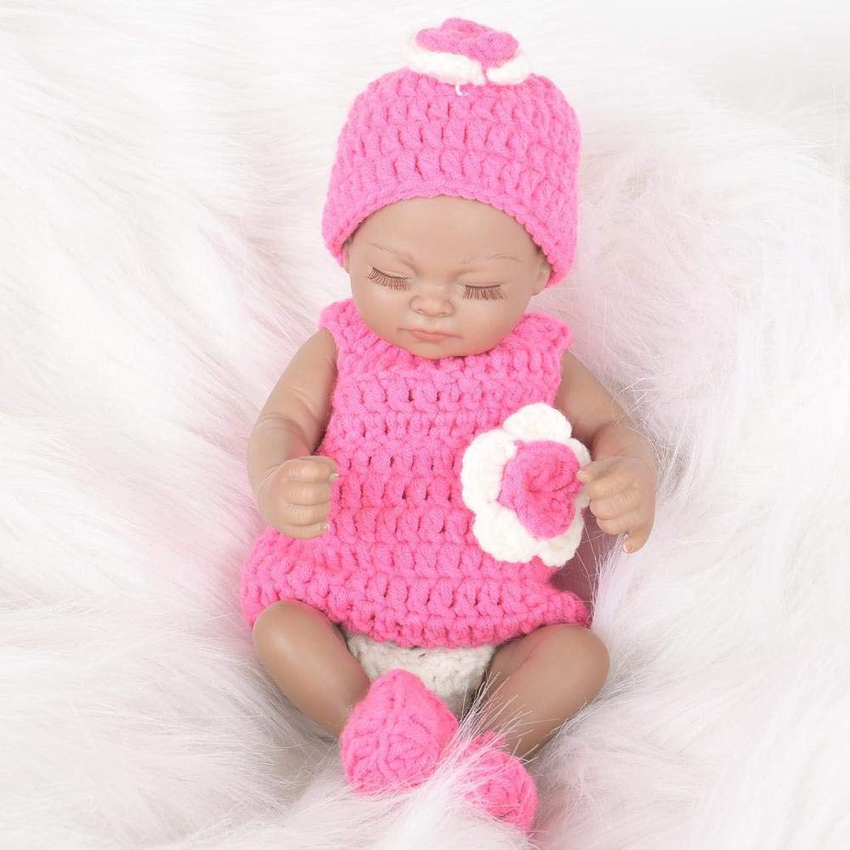 Hongge Reborn Bambola,Bambola Rebirth bambino giocattolo regalo di compleanno bambino bambola silicone soft bambino sleep 28cm